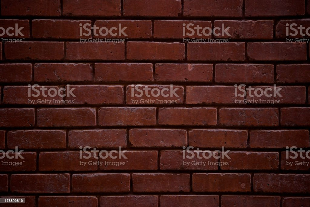 Brick Wall Background Classic Dark Red Full Frame royalty-free stock photo