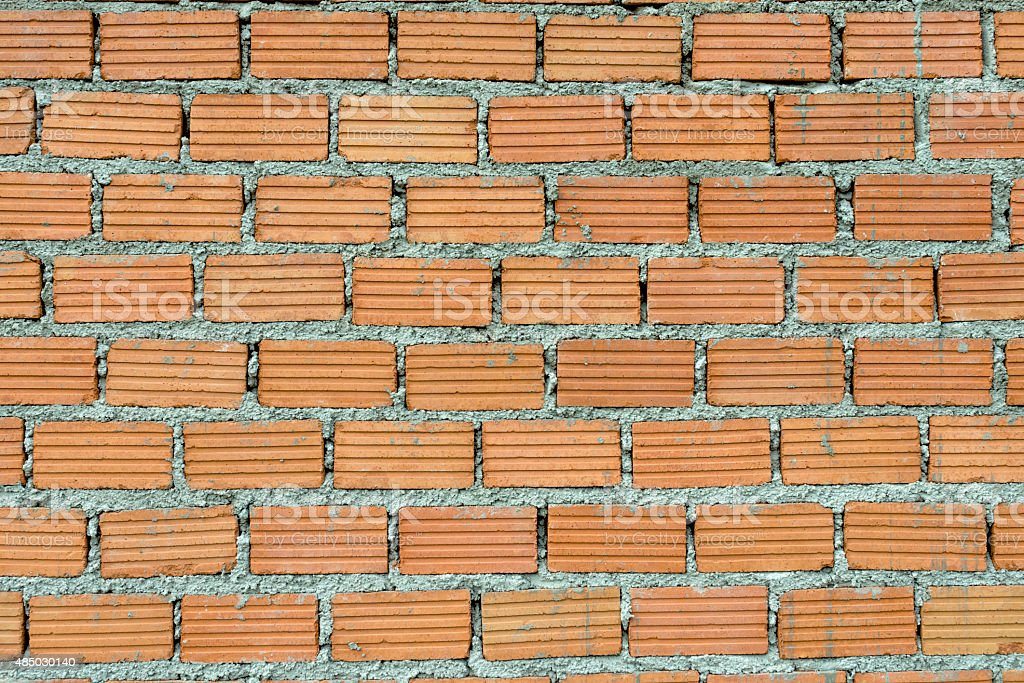 Brick wall background. during building home royalty-free stock photo