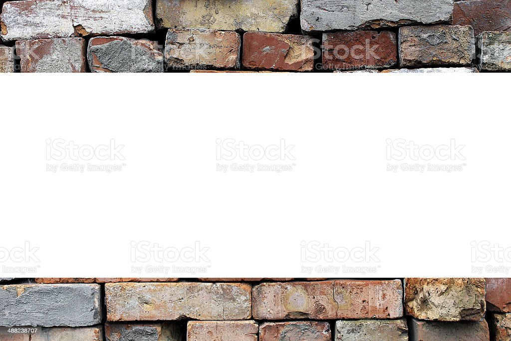 brick wall background material royalty-free stock photo