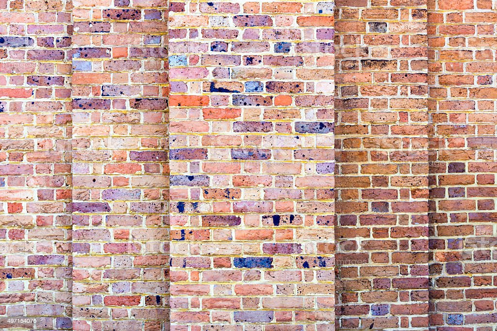 Brick wall background with copy space stock photo