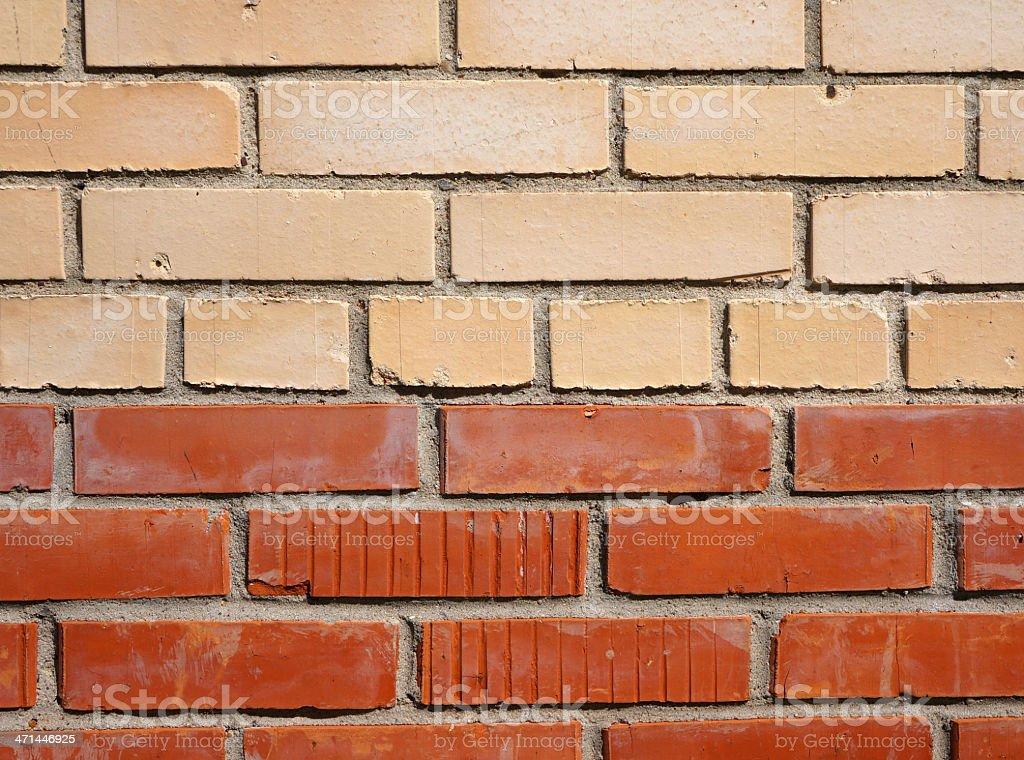 Brick wall. Colours. royalty-free stock photo