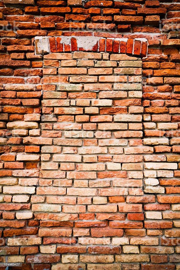 Brick Wall Damaged royalty-free stock photo