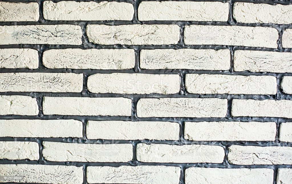 Brick wall design as mortar background texture royalty-free stock photo