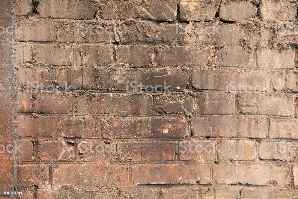 Brick wall dirty background stock photo