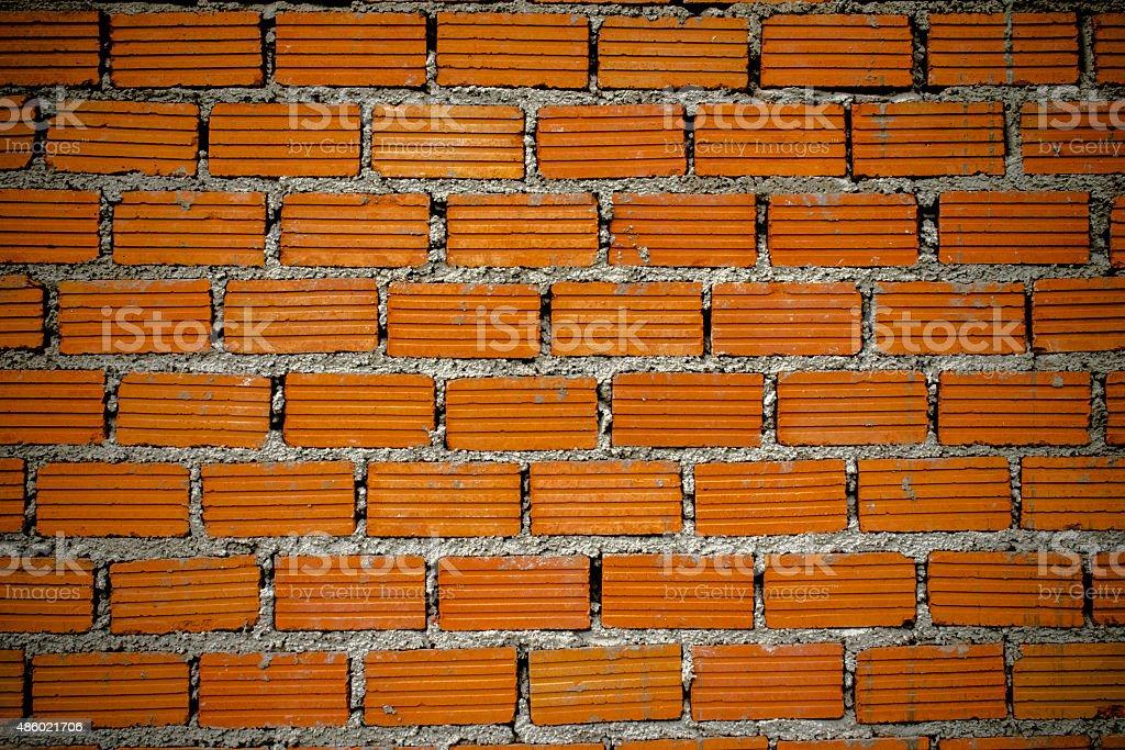 Brick wall during building. royalty-free stock photo