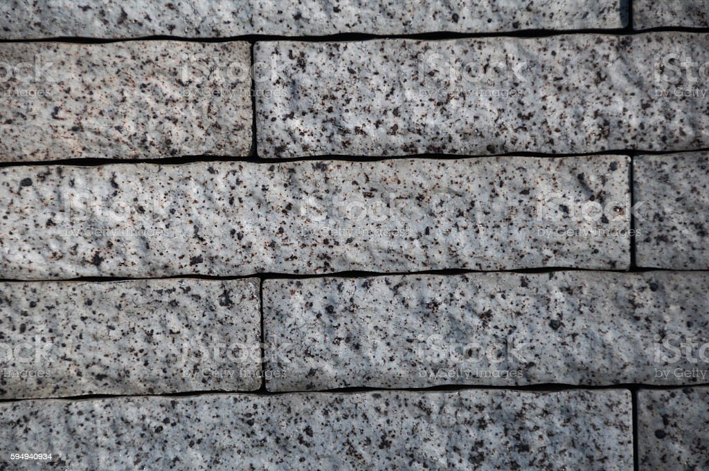 Brick wall - grey stock photo