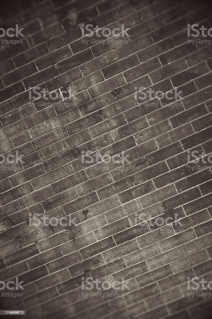 Brick Wall, Grunge Style royalty-free stock photo
