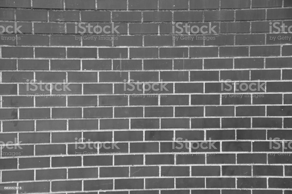 brick wall in a subway in New York City stock photo