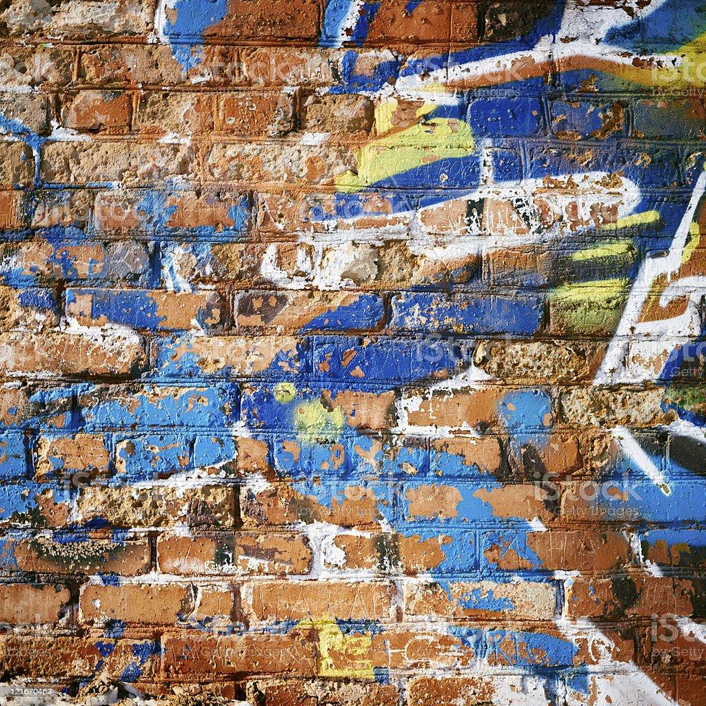 Mur de briques dans Ghetto. photo libre de droits