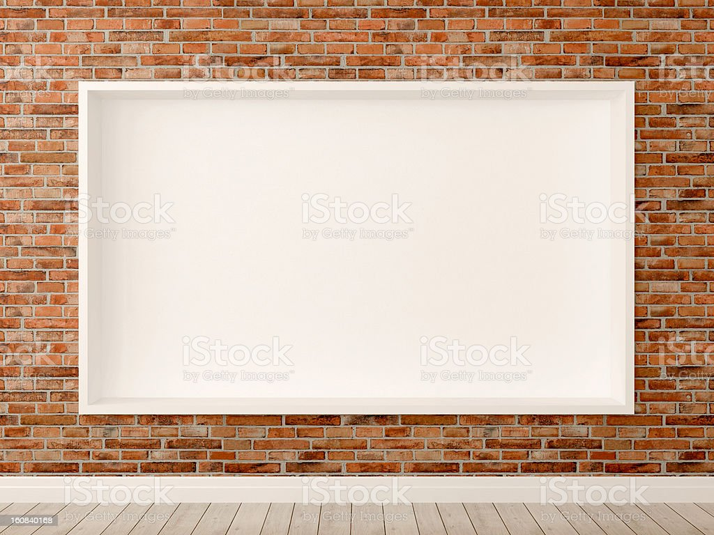Brick wall in interior royalty-free stock photo