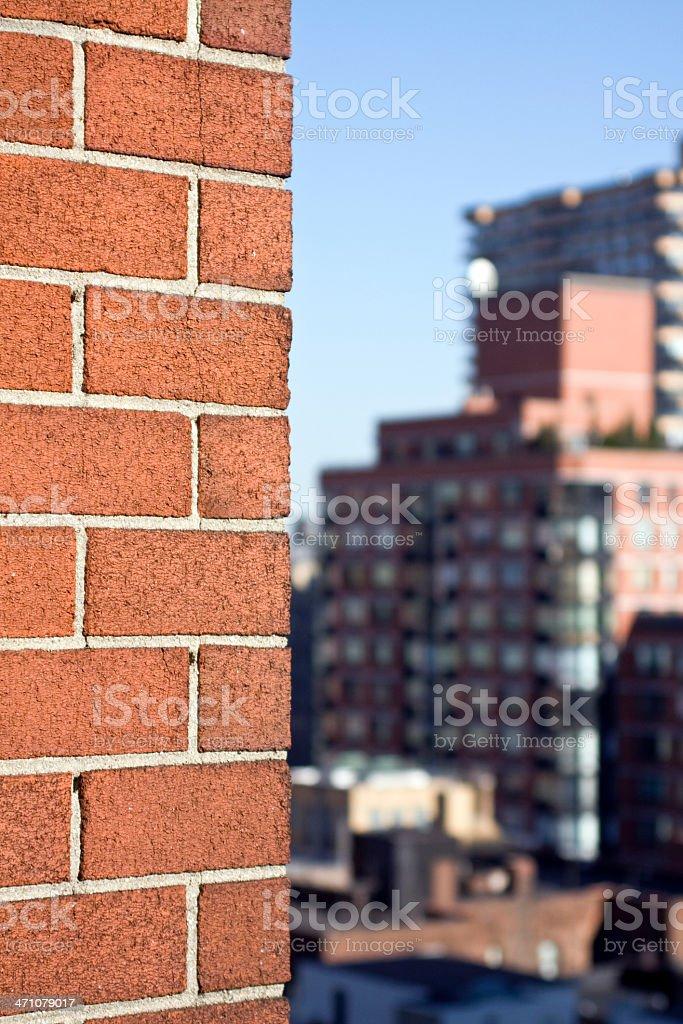 Brick Wall in NYC royalty-free stock photo
