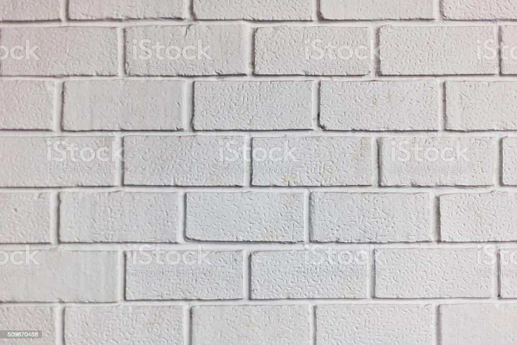 brick wall painted white stock photo