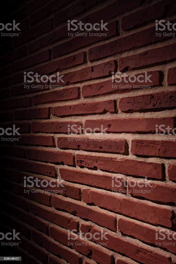 Brick Wall Pattern in the Dark stock photo