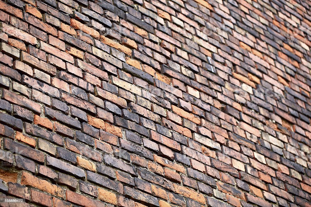 Brick wall perspective. royalty-free stock photo