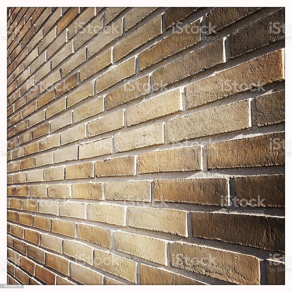 Brick Wall Perspective stock photo