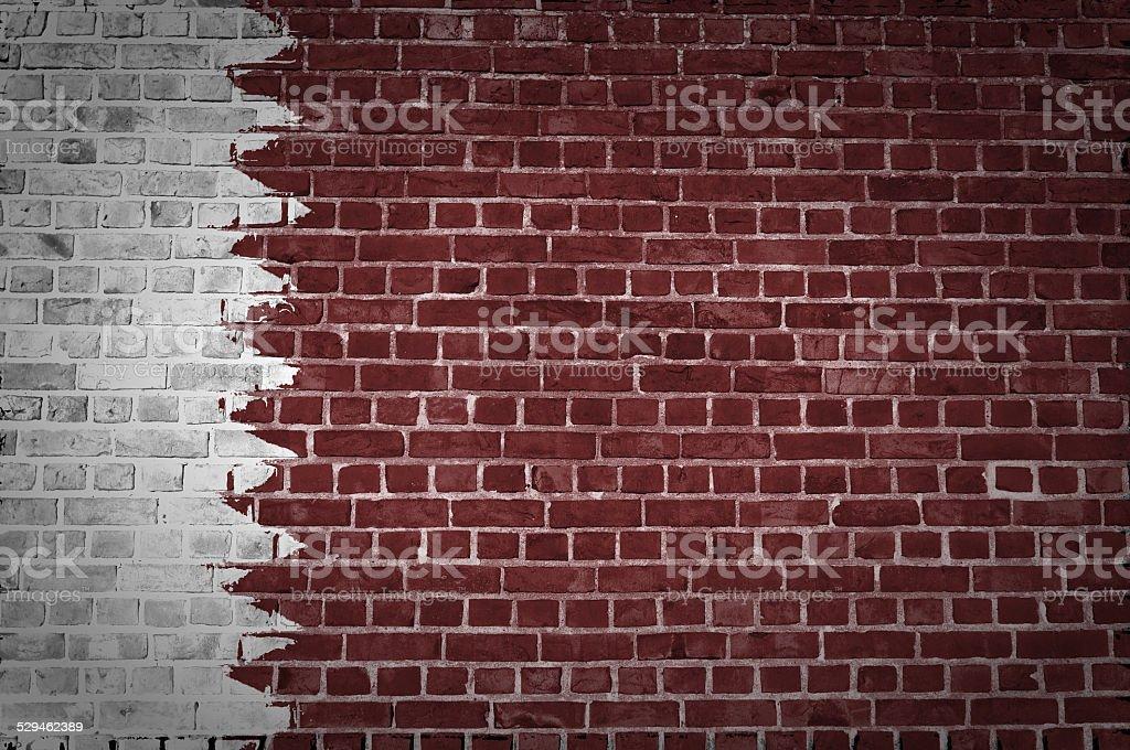 Brick Wall Qatar stock photo