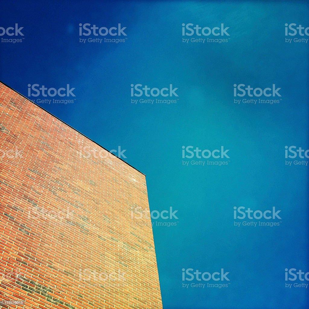 Brick Wall Sky royalty-free stock photo