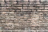 Brick wall texture pattern or brick wall background.
