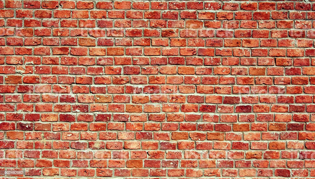 Brick Wall Textured stock photo