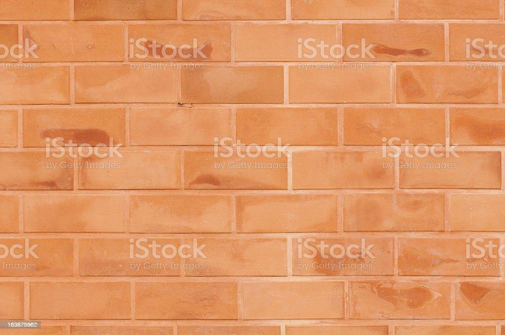 Brick wall with big blocks royalty-free stock photo