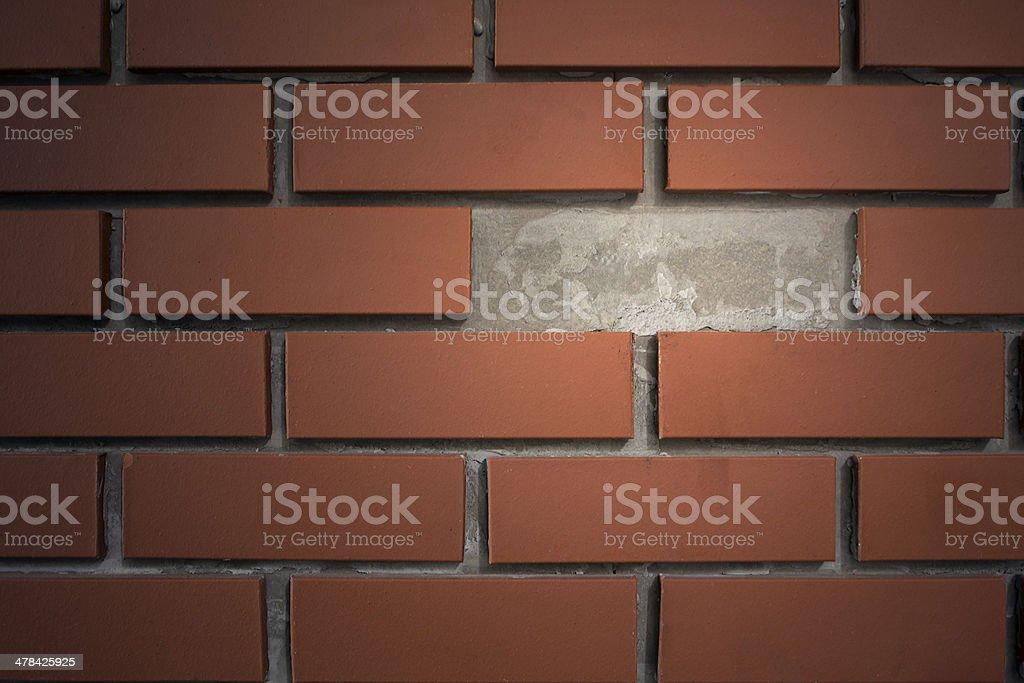 Ziegelmauer mit Breakout-Bereich Lizenzfreies stock-foto