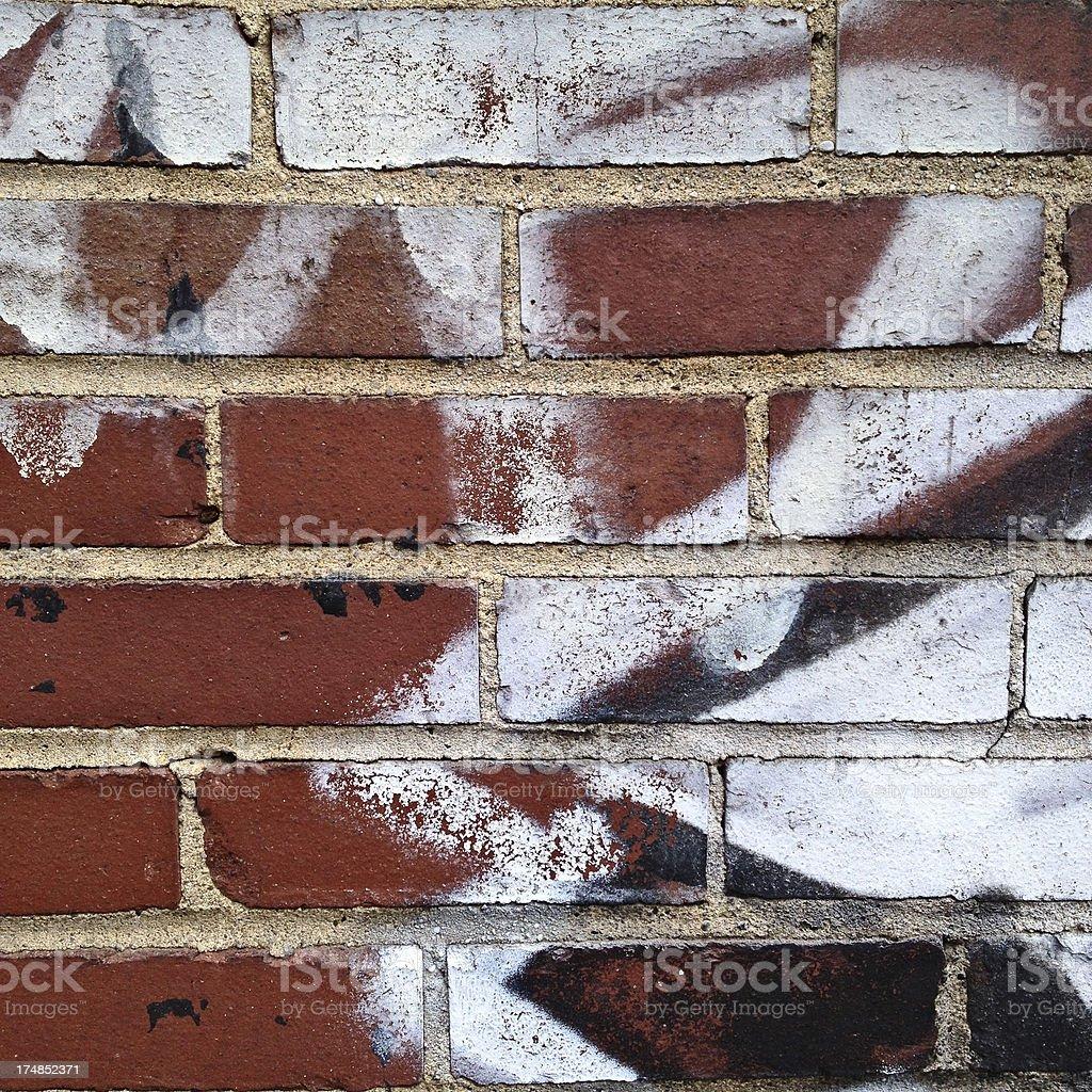 Brick Wall with Graffiti royalty-free stock photo