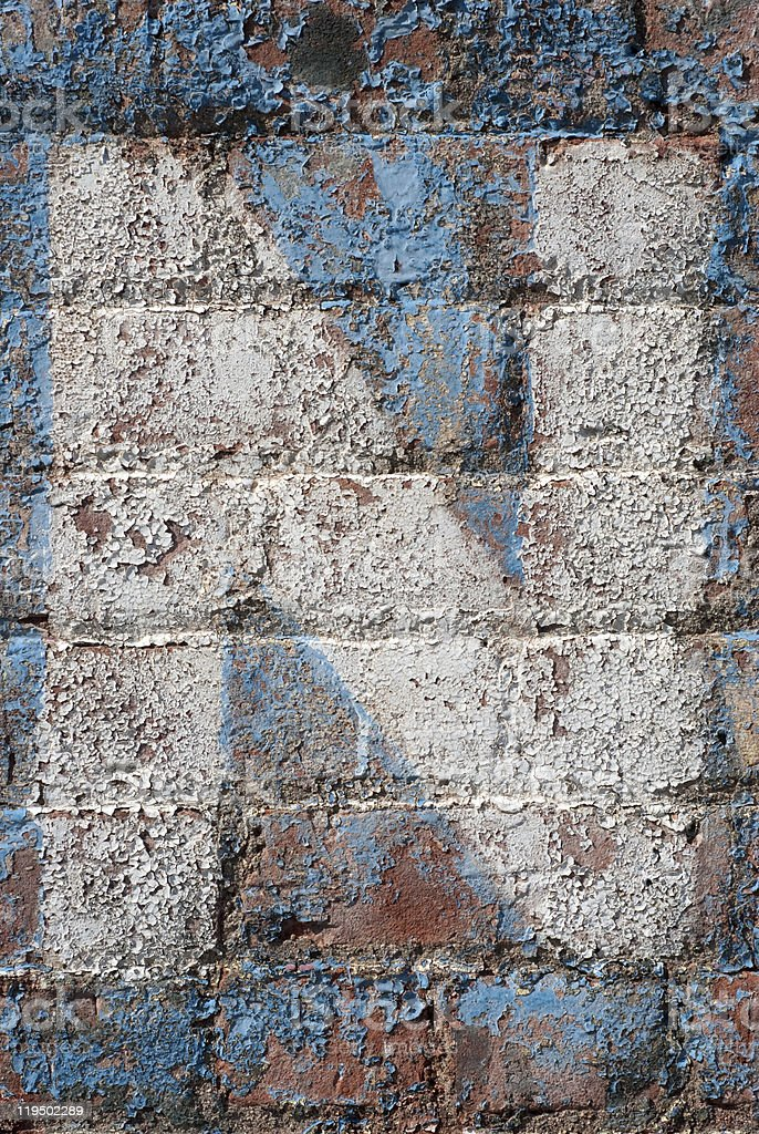 Brick Wall with the Letter 'N' royalty-free stock photo