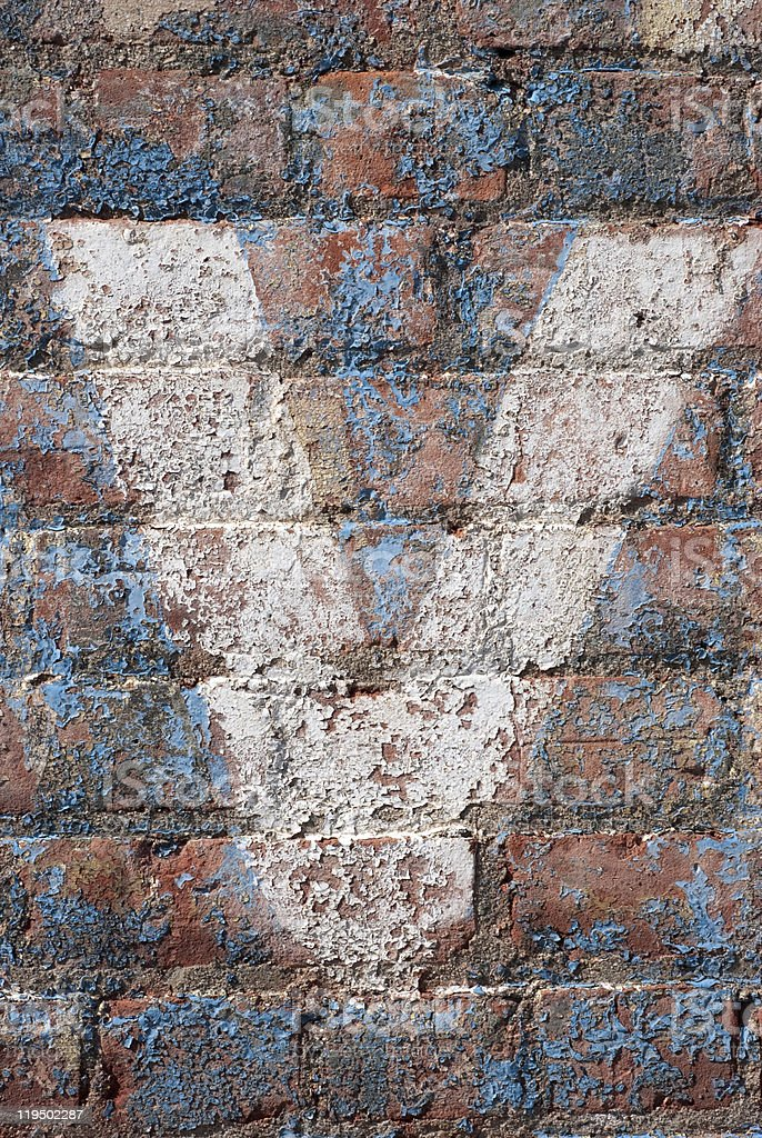 Brick Wall with the Letter 'V' stock photo