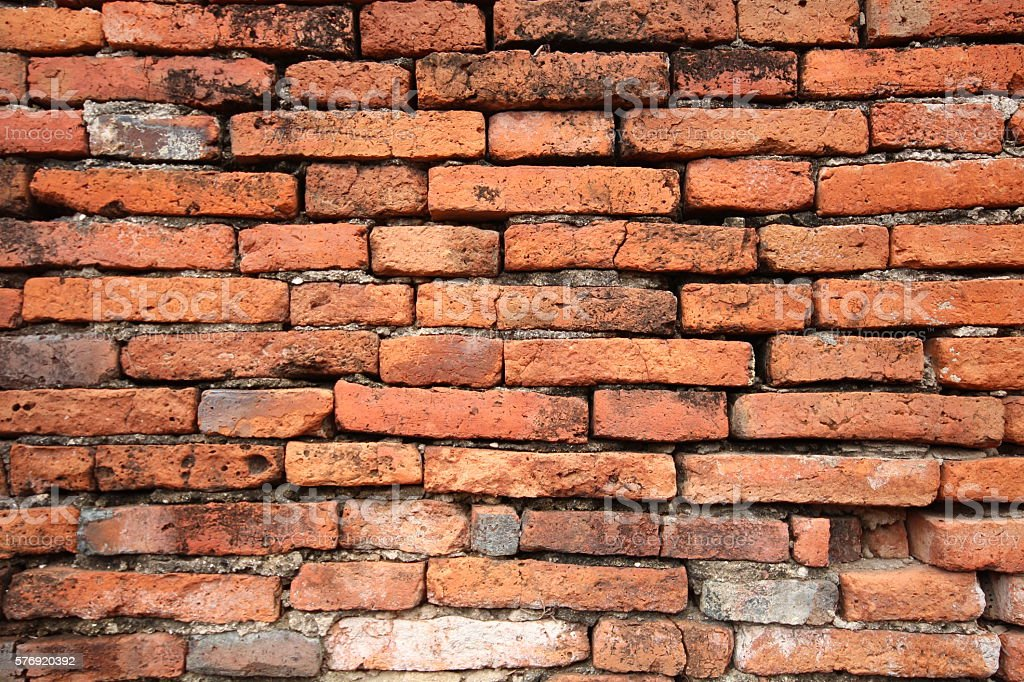 brick walls of the old stock photo