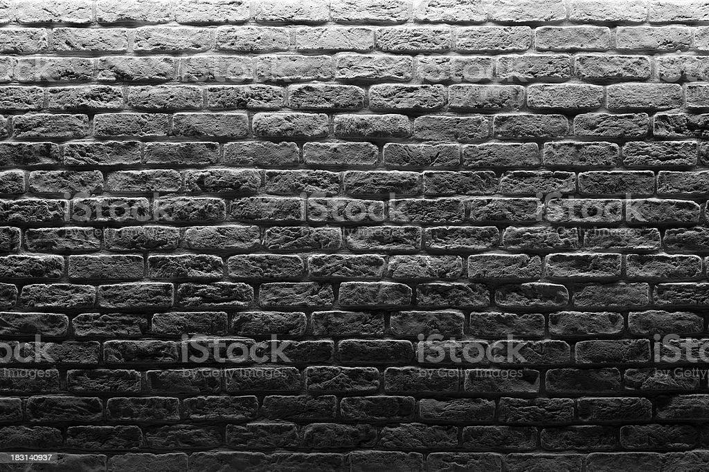 Brick Wall.White and Black royalty-free stock photo