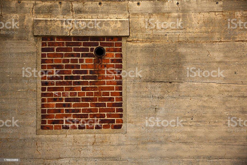 Brick Window Wall royalty-free stock photo