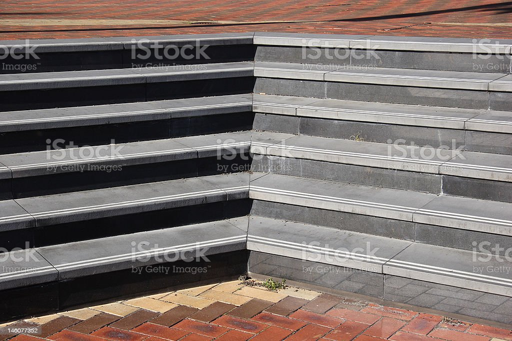 Brick with stone steps stock photo