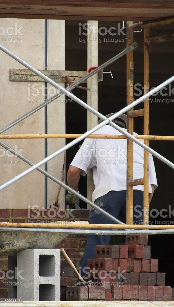 Brick Worker stock photo