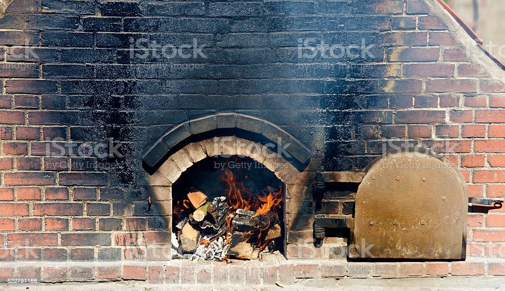 brick-built baking oven stock photo