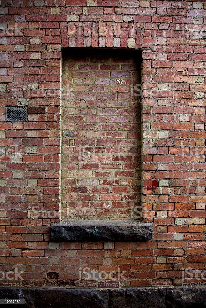 Bricked In Window stock photo