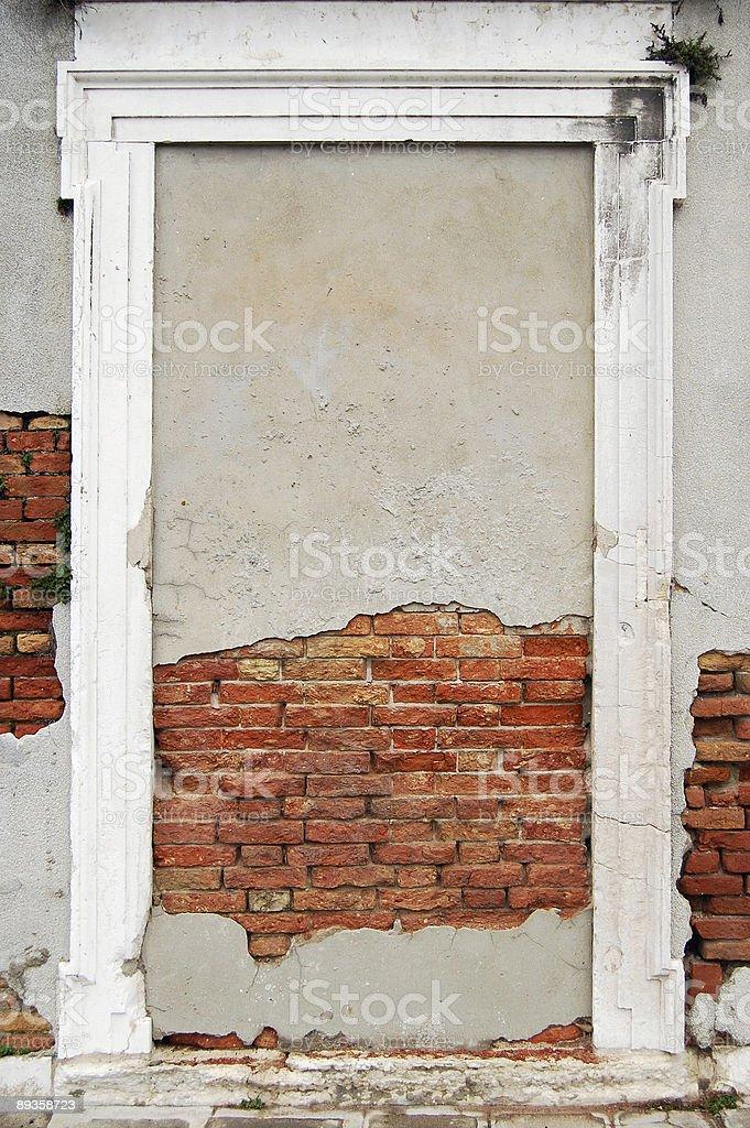 Bricked solid door royalty-free stock photo