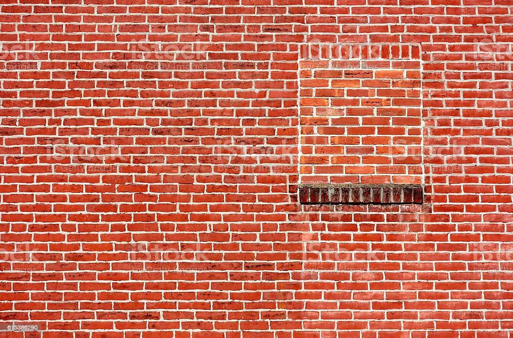 Bricked up Window stock photo