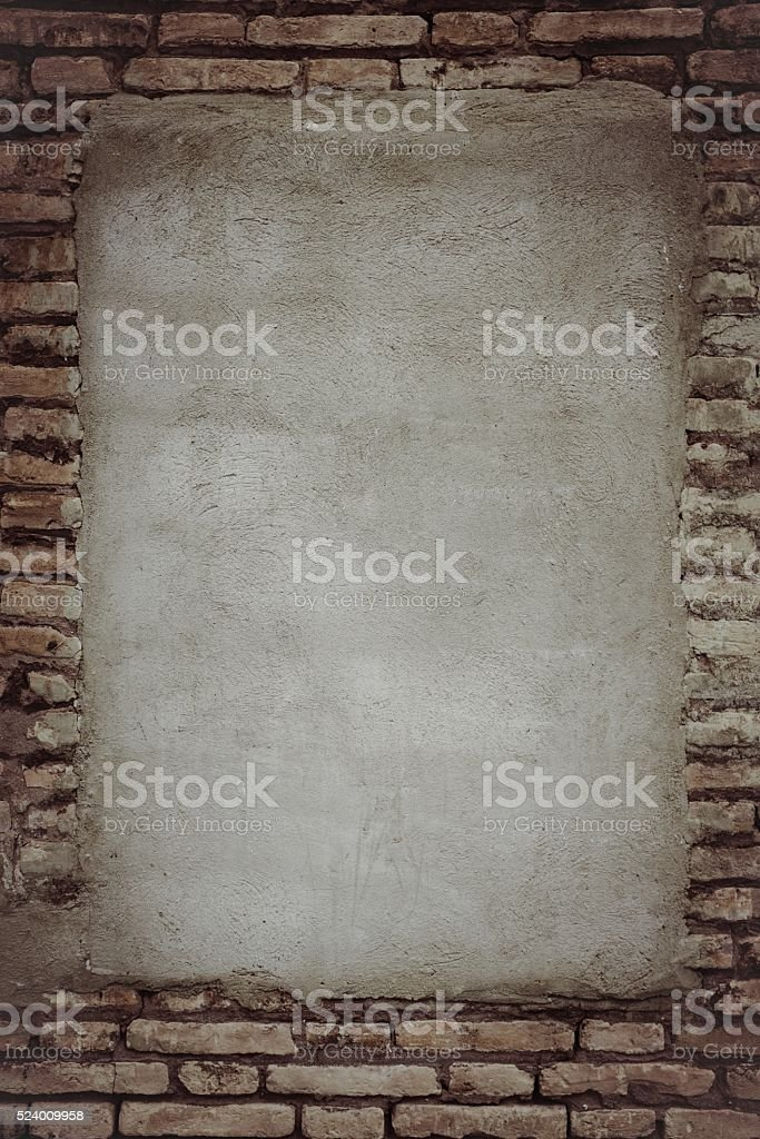 bricked window in the wall. stock photo