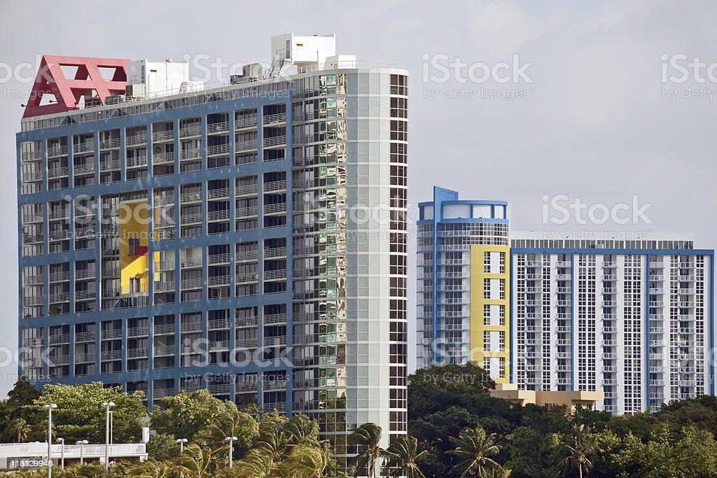 (XXXL) Brickel Avenue condos royalty-free stock photo