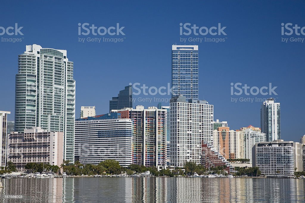 Brickell ave in Miami stock photo