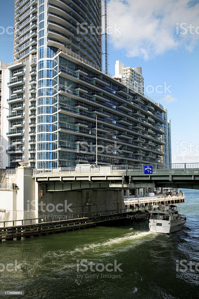 brickell bridge stock photo