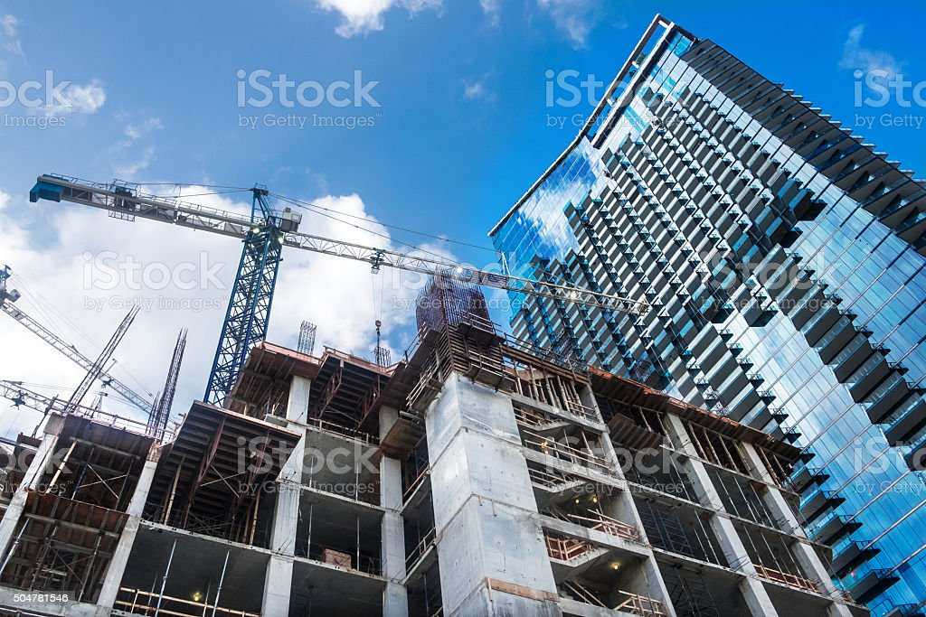 Brickell Center under Construction stock photo