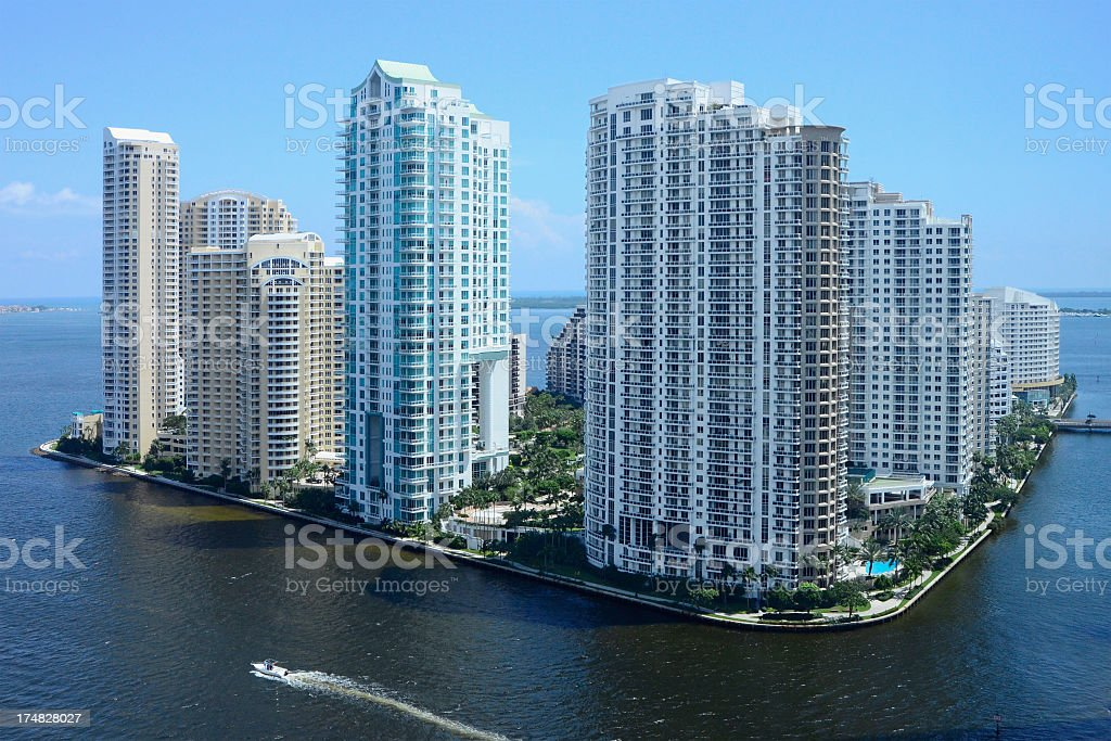 Brickell Key - Miami, Florida stock photo