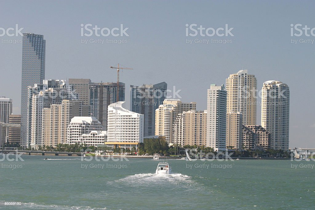 Brickell Key skyline stock photo