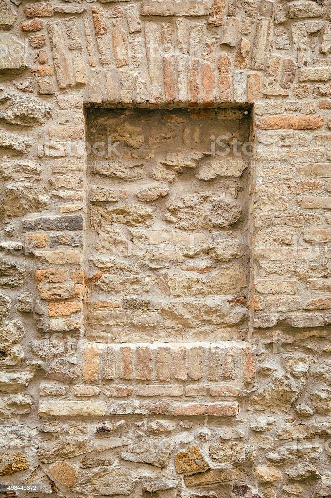 Brick-encased Window stock photo