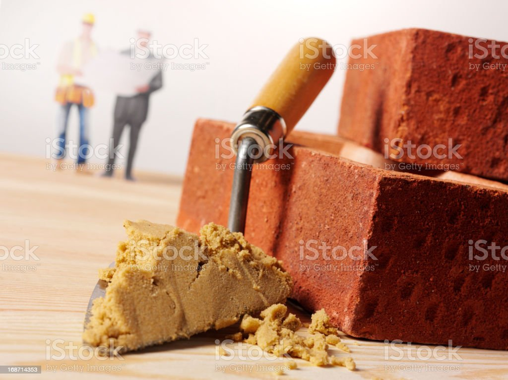 Bricklayer and Surveyor royalty-free stock photo