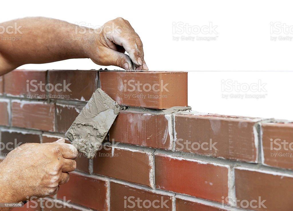 Bricklaying stock photo