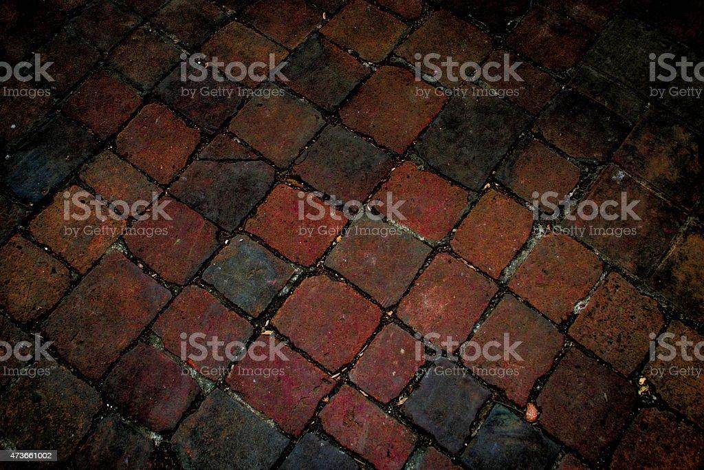 bricks and mosaics stock photo
