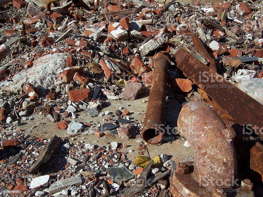Bricks and pipe stock photo