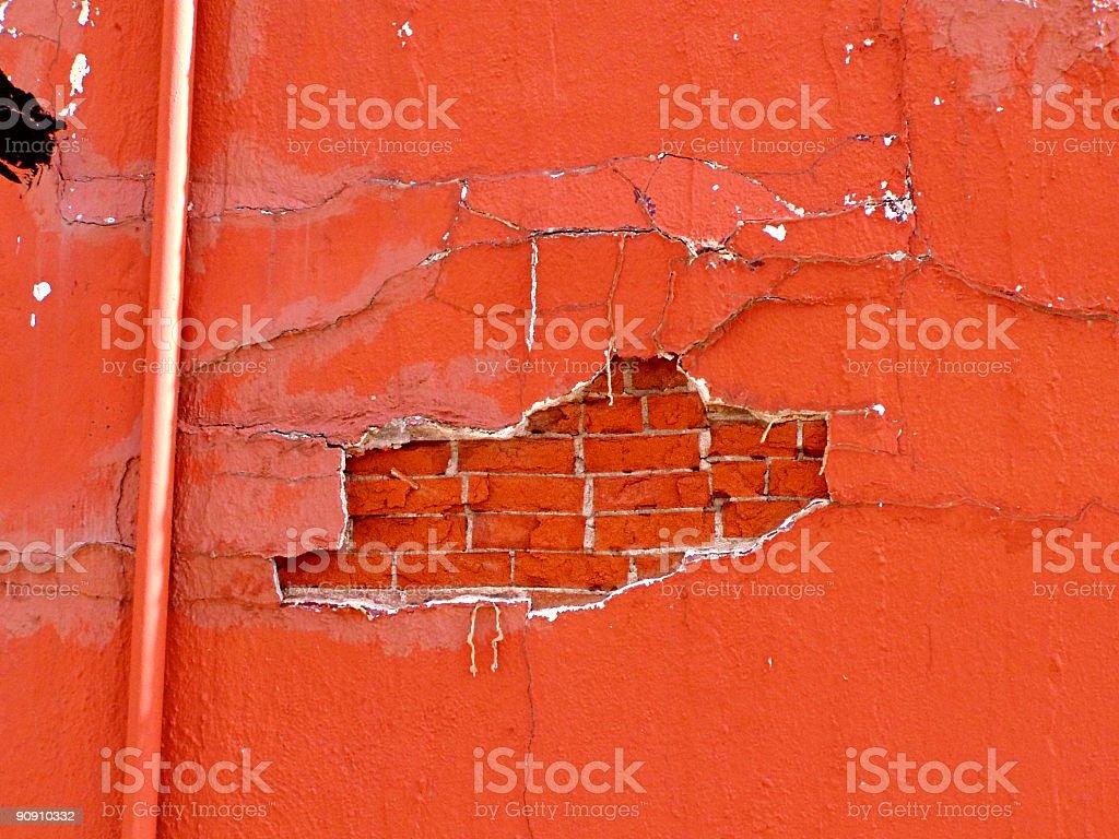 Bricks and Plaster stock photo